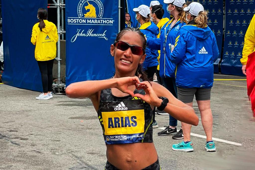 Kelly Arias volvió a la competencia con el maratón de Boston 1